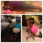 Peyton Doing Push Ups and Planks