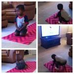 Yus doing Yoga